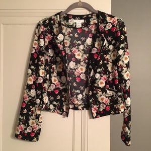 BCNU Cropped Floral Blazer